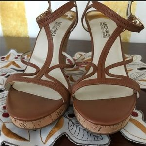 Michael Kors sandal wedges sz 11 like new!
